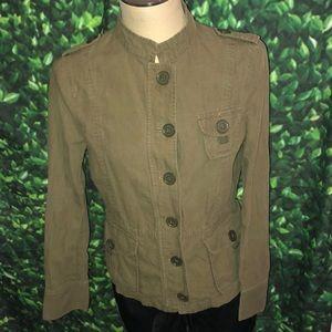 Zara Women military style jacket sz L